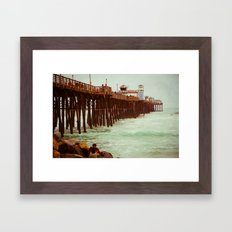Oceanside Pier Framed Art Print