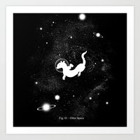 Otter Space Art Print