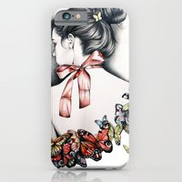 iPhone & iPod Case featuring L'effet papillon by KatePowellArt