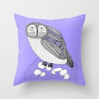 another owl Throw Pillow