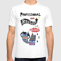 Professional Recluse White Mens Fitted Tee SMALL