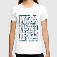 Which Way To The Bathroo… Womens Fitted Tee White SMALL