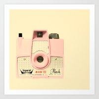 Think Pink Art Print