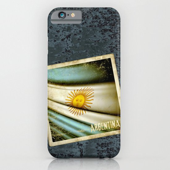 Grunge sticker of Argentina flag iPhone & iPod Case