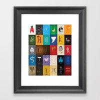 Meagan's Movie Alphabet … Framed Art Print