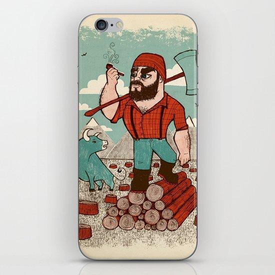 Paul Bunyan & Babe iPhone & iPod Skin