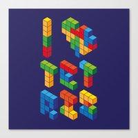I Heart Tetris Canvas Print