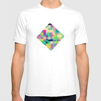 Pixeland Mens Fitted Tee White SMALL