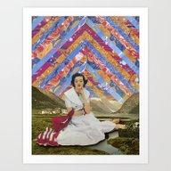 Psychedelic Sky Art Print