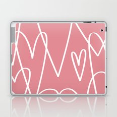 Doodle Hearts in Pink by Friztin Laptop & iPad Skin