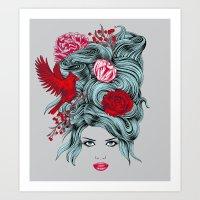 Winter Girl Art Print