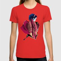 Anatomy 07a Womens Fitted Tee Red SMALL