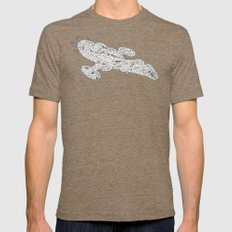 white serenity Mens Fitted Tee Tri-Coffee SMALL
