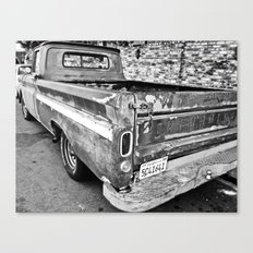 Nearing The End of the Road (B&W) Canvas Print