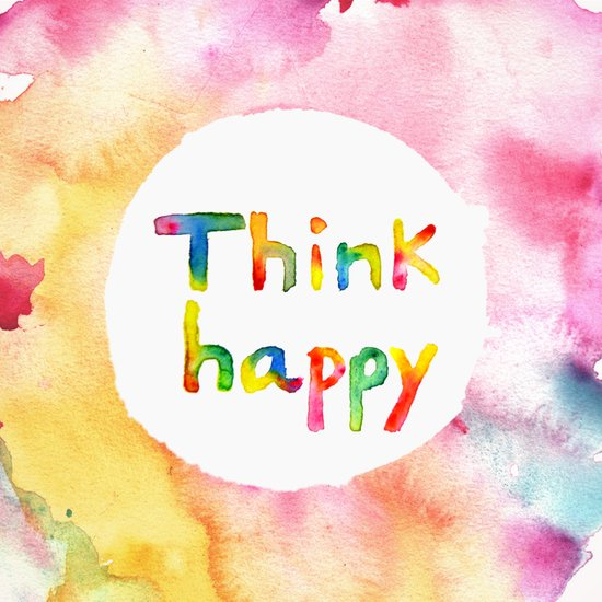 Think Happy Art Print