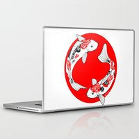 japanese Laptop & iPad Skins featuring Japanese Kois by Art et Be