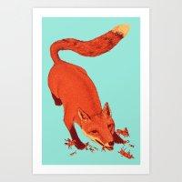 Fox Hunting  Art Print