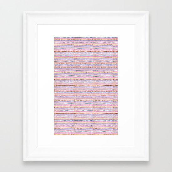 Delicate summer Framed Art Print