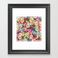 Technicolor Petal   Flor… Framed Art Print