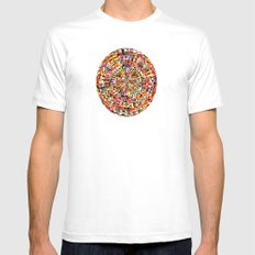 Centrifuge SMALL White Mens Fitted Tee