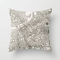Nashville Map Throw Pillow