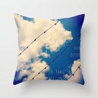 Sky Lights Inspiration Throw Pillow