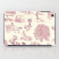 Shire Toile - Red iPad Case