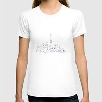 Cat's Womens Fitted Tee White SMALL