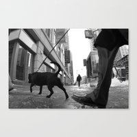 Canvas Print featuring Winter Dog by Misha Dontsov
