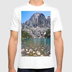 Phantom Lake White Mens Fitted Tee SMALL