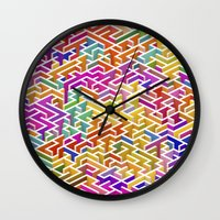 Labyrinth I Wall Clock