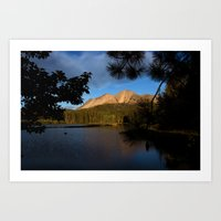 Manzanita Lake Lassen Volcanic National Park Landscape Art Print