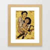 Glenn & Maggie Framed Art Print
