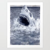 Shark Attacks! ( By Luca… Art Print