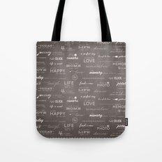 Life on a Chalkboard Tote Bag
