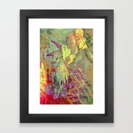 Parrot. On Front Page. Framed Art Print