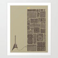 Turn It Up Art Print