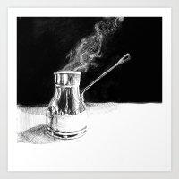 Arabic Coffee Art Print