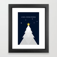 Another Minimal Christma… Framed Art Print