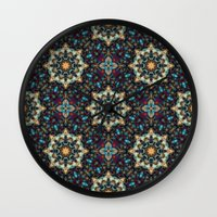 Abstract Cathedral Kaleidoscope Wall Clock