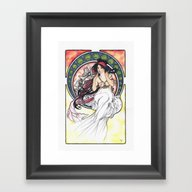 Alfons Mucha Music Framed Art Print
