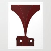Silhouette Racers - Volv… Art Print
