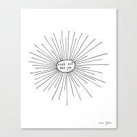 seek out the joy Canvas Print