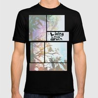 Living in the Sun Mens Fitted Tee Black SMALL
