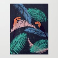 Palms In The Sand | Anim… Canvas Print