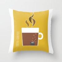 70s Coffee Throw Pillow