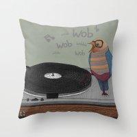 Dub-bird Throw Pillow