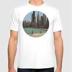 Chicago Mens Fitted Tee SMALL White