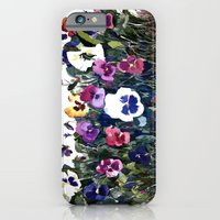 Pansies Watercolor iPhone 6 Slim Case