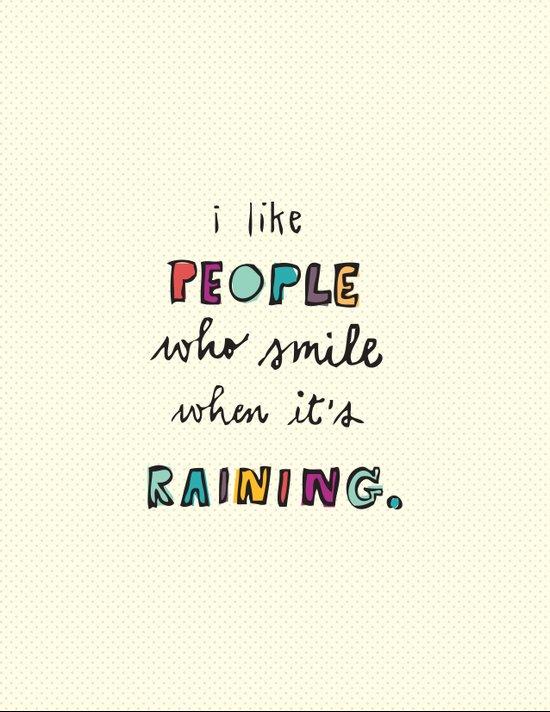 when it's raining Canvas Print